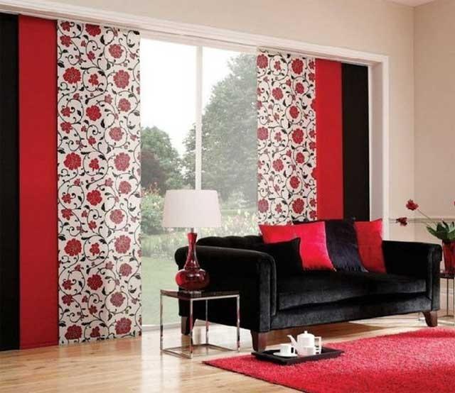 Красные и черные элементы декора - современно и экстравагантно