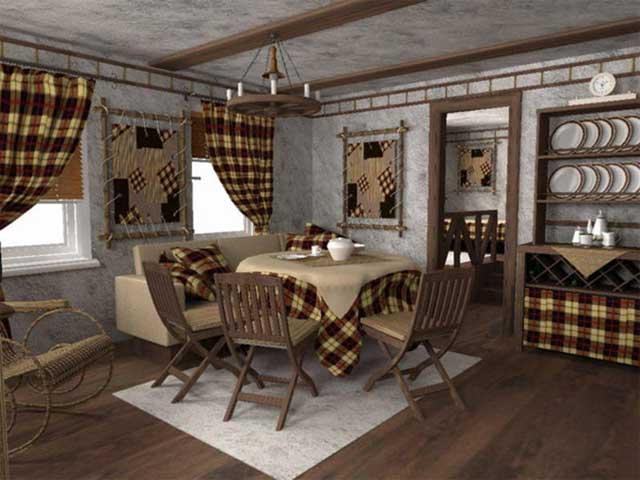 Интерьер кухни в стиле кантри - деревенском