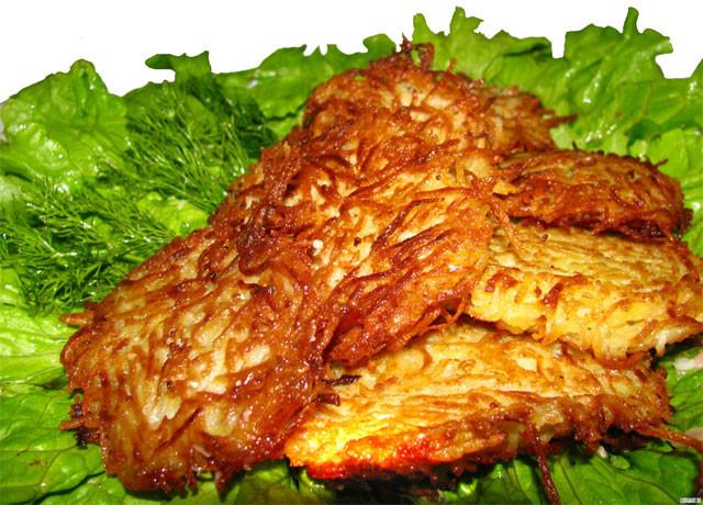 Приготовление драников из картофеля