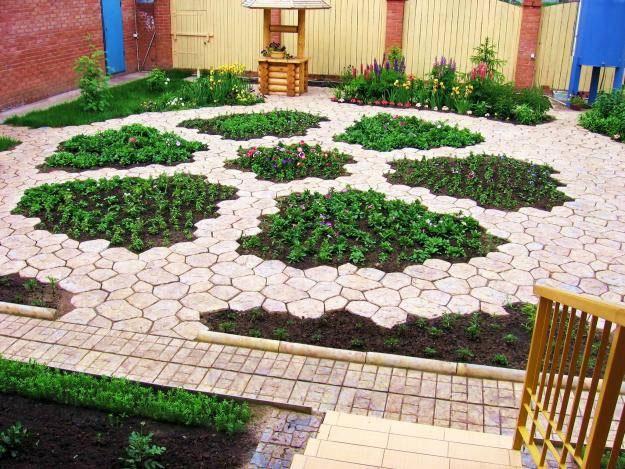Строительство садовой дорожки из формы своими руками