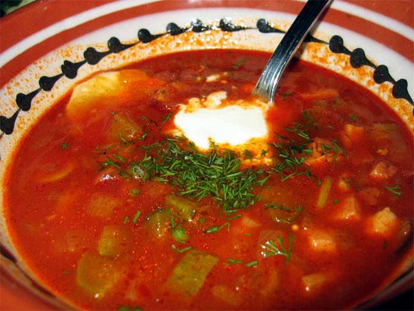 Рецепт молдавского борща с горохом