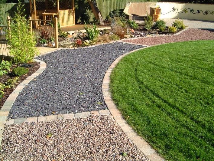 Гравий и щебень как материал для садовых дорожек