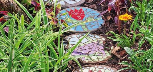 Садовая дорожка из керамической мозайки