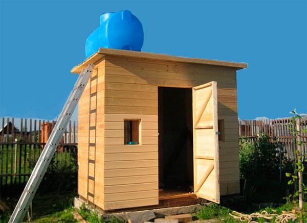 Как построить каркасный летний душ на даче своими руками