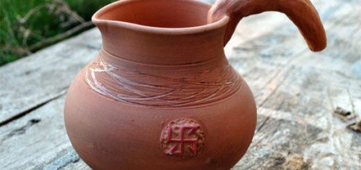 Славянские обереги на посуде