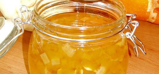 Рецепт варенья из кабачков с лимоном