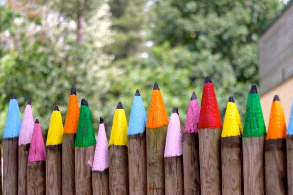 Декоративный деревянный забор на даче своими руками