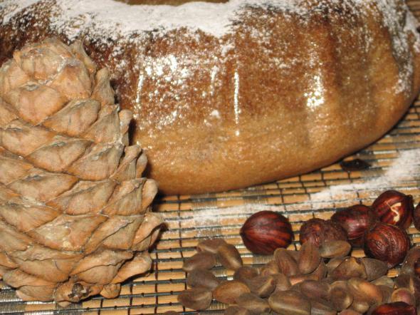 Третий Спас - ореховый хлебный холщовый