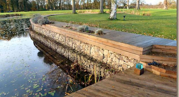 Роль габионов в оформлении водных сооружений