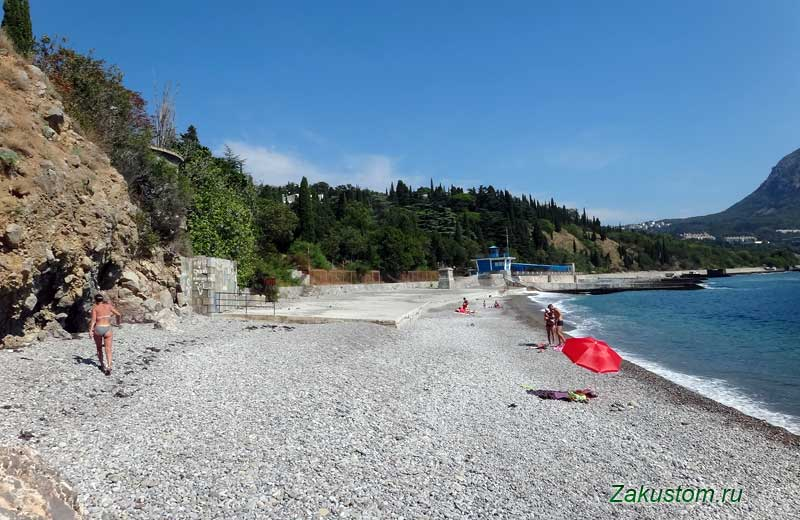 Пляж около Артека