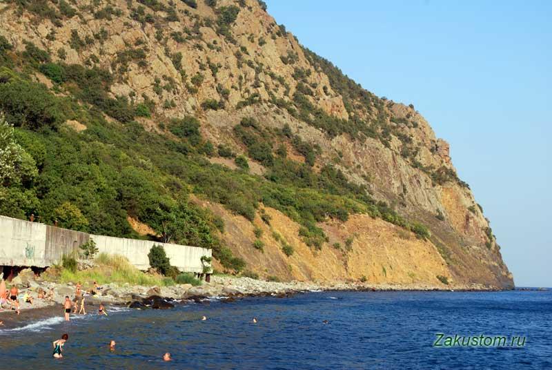 Медведь гора - Аю-Даг. Дикий пляж Артека