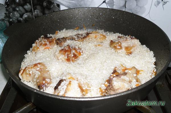 Рассыпчатый плов на сковороде рецепт с пошагово