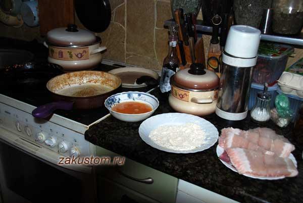Жарим рыбу пангасиус