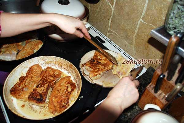 Жарим пангасиуса на сковороде