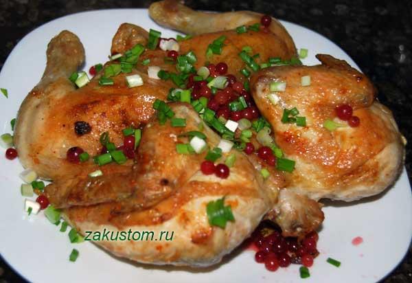 Как запечь курицу целиком с чесноком и майонезом