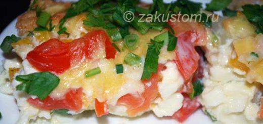 Омлет с цветной капустой и овощами - рецепт приготовления