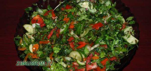 Весенний салат со снытью