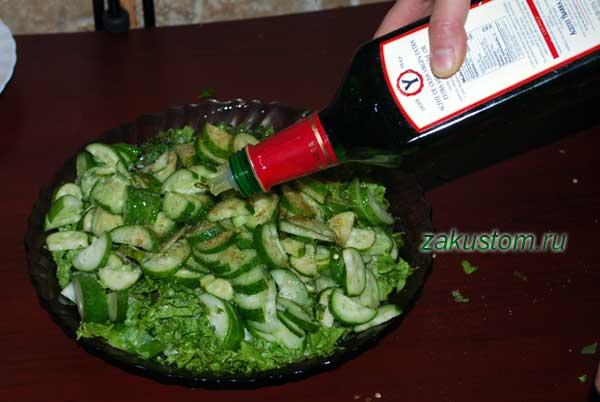 рецепт салата из свежих овощей и зелени