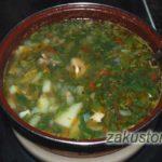 Суп из крапивы и сныти
