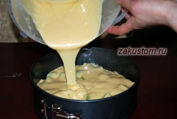 Шарлотка с ревенем - рецепт пошаговый с фото