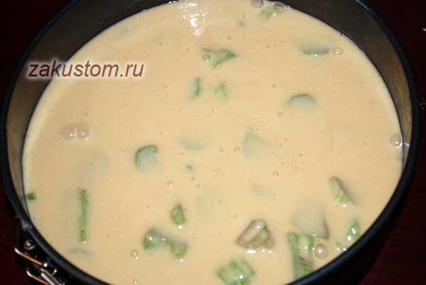 Рецепт приготовления шарлотки с ревенем