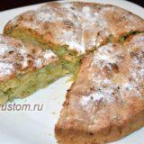 Вкусный десерт - шарлотка с ревенем