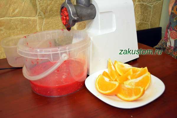 Красная калина с апельсином - полезная заготовка