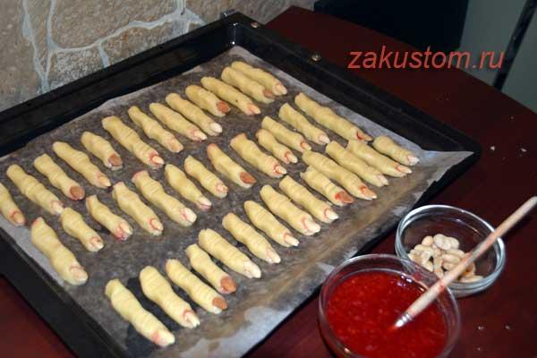 Печенье пальчики для праздника Хеллоуин