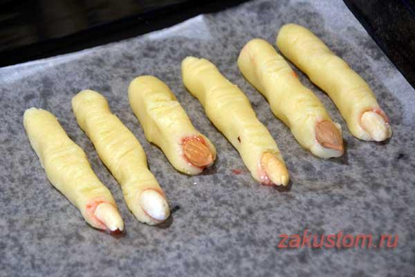 """Рецепт приготовления печенья """"Ведьмины Пальчики"""" для Хеллоуина"""