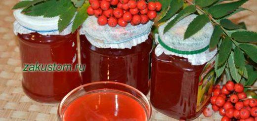 Сироп из красной рябины - полезный и вкусный