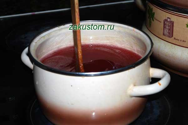 Варим сироп из красной рябины