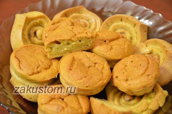 Вкусные и простые кукурузные кексы - рецепт приготовления