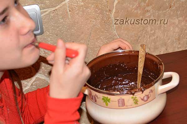 Шоколадно-ореховая паста в домашних условиях