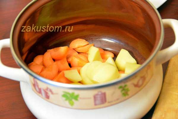 Готовим овощной суп-пюре