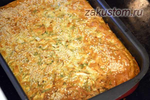 Самый простой рецепт пирога с капустой на кефире