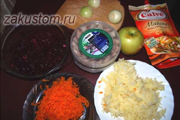 Готовим селедку под шубой - самый красивый и вкусный рецепт