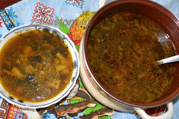 Простой рецепт вкусного грибного супа