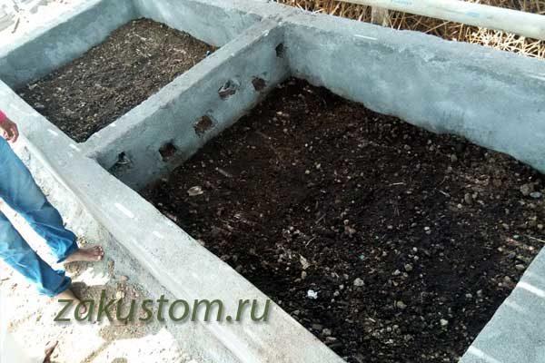 Бетонированная компостная яма